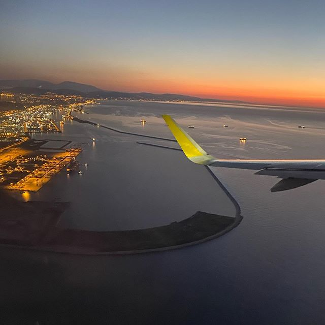 What love looks like  . . . . . #plane#trip#spain#barcelona#sea#city#lights#view#beautiful#wow#sunset#world